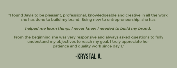 I found Jayla to be pleasant, professional, knowledgeable and creative in all the work 2
